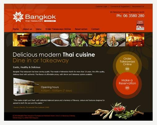 Website Design - Bangkok Thai Restaurant