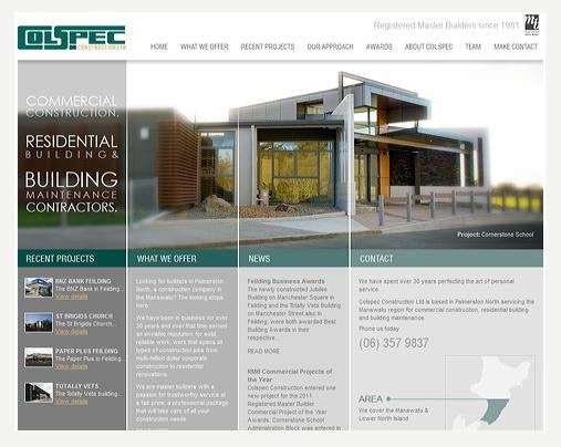 Website Design - Colspec Construction
