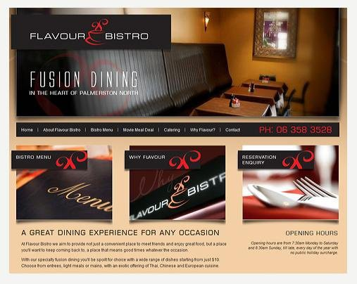 Website Design - Flavour Bistro