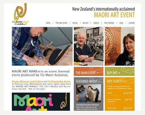 Website Design - MAORI ART MARKet
