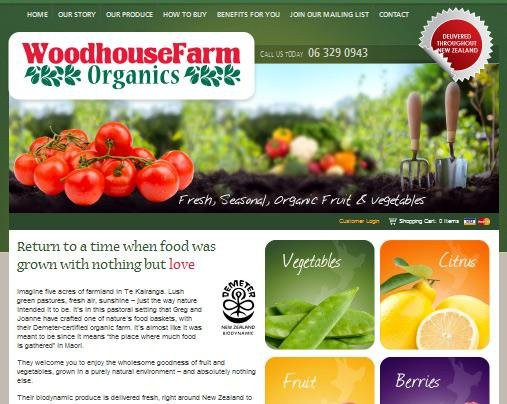 Website Design - Woodhouse Farm Organics