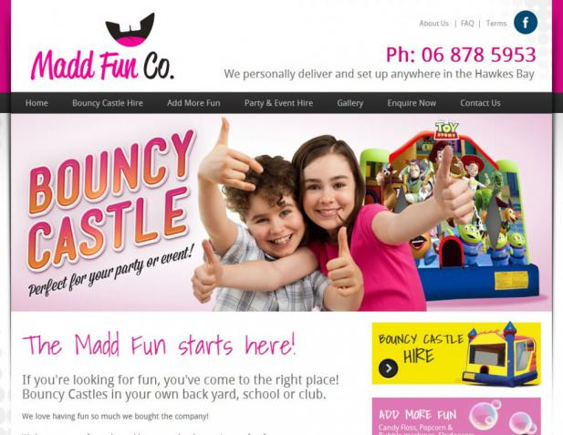 Website Design - The Madd Fun Company