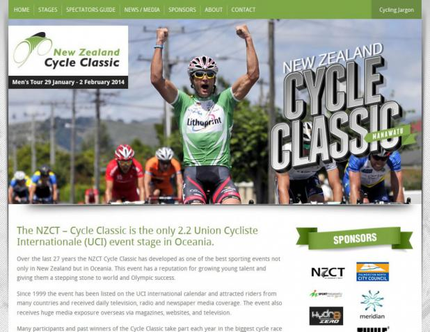 Website Design - New Zealand Cycle Classic